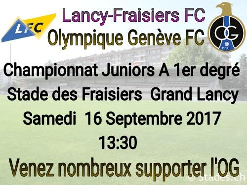 Venez encourager nos juniors A ce samedi 16 septembre à 13h30