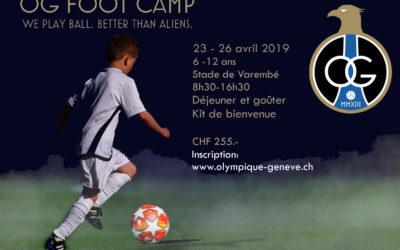 Ouverture des inscriptions au prochain OG Foot Camp