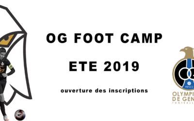 Ouverture des inscriptions au Foot Camp OG été 2019